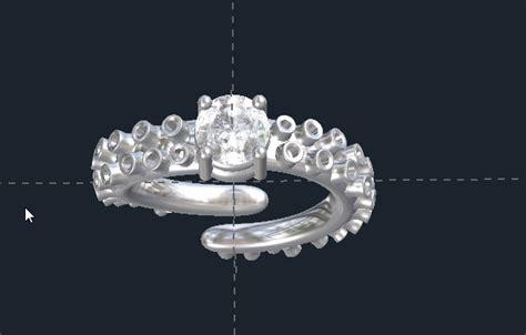 octopus engagement ring custom wedding rings valeria