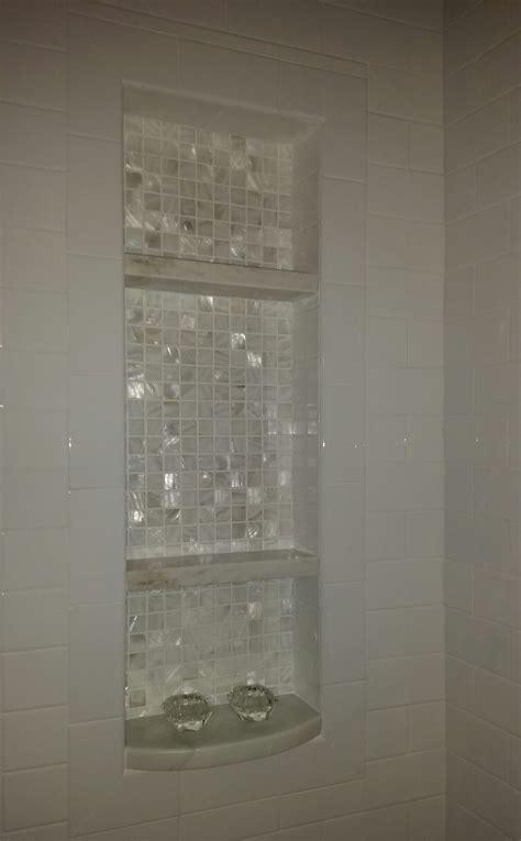 added  niche   tubshower combo  shelves