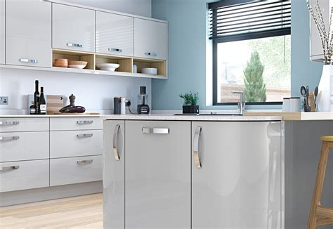 light grey gloss kitchen zola gloss contemporary light grey kitchen stori 6991