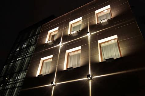 Window Fixtures by Architectural Lighting Of The Office Building Facade