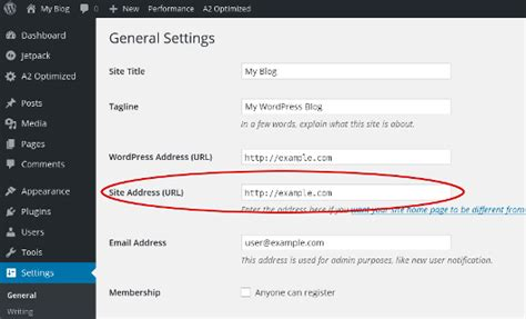 How To Configure Wordpress To Use A Temporary Url