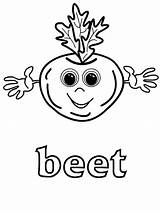 Coloring Pages Vegetable Beet Beets Vegetables Printable Patch Cartoon Cabbage Fruit sketch template