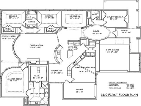 Single Story Open Floor Plans 1900 Sq FT Single Story Open ...