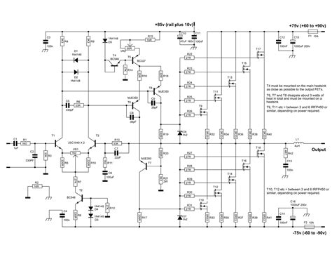 Watt Mosfet Power Amplifier With Pcb Electronic Circuit