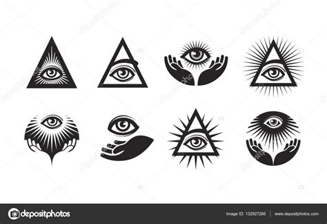 occhio illuminati tutti i set di icone occhio vedente simbolo degli