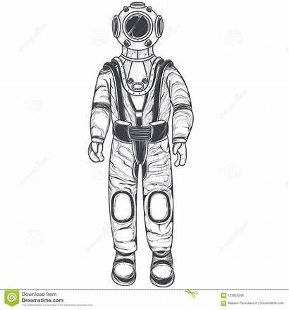 Astronaut Cosmonaut Helmet Space Suit Line