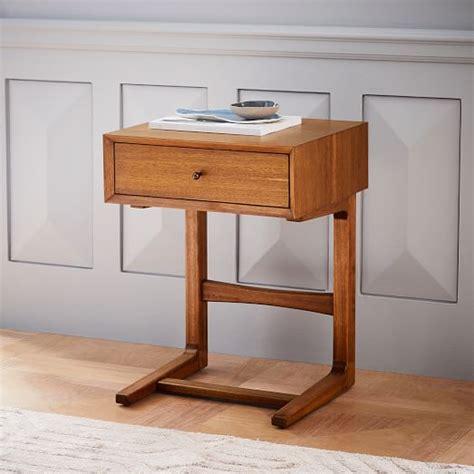 c shaped nightstand mid century c shaped nightstand west elm