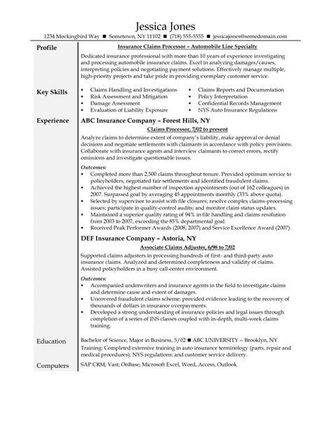 Property Claims Adjuster Resume by Resume For Property Claims Adjuster Resume Format