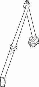 Saturn Relay Seat Belt Lap And Shoulder Belt  Gray