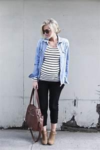 Schwarze Tasche H M : schwarz wei gestreiftes langarmshirt c a jeansjacke c a schwarze leggins h m braune ~ Watch28wear.com Haus und Dekorationen