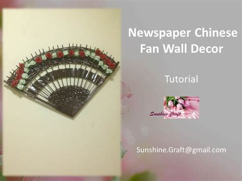 how to hang paper fans on wall d i y newspaper chinese fan wall decor tutorial youtube