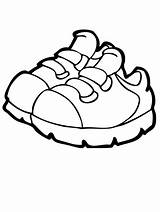 Coloring Shoes sketch template