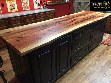 unfinished kitchen furniture curly redwood live edge counter top jewell hardwoods