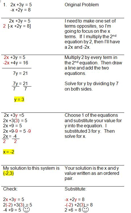 Solving Systems Of Equations Practice Problems Tessshebaylo