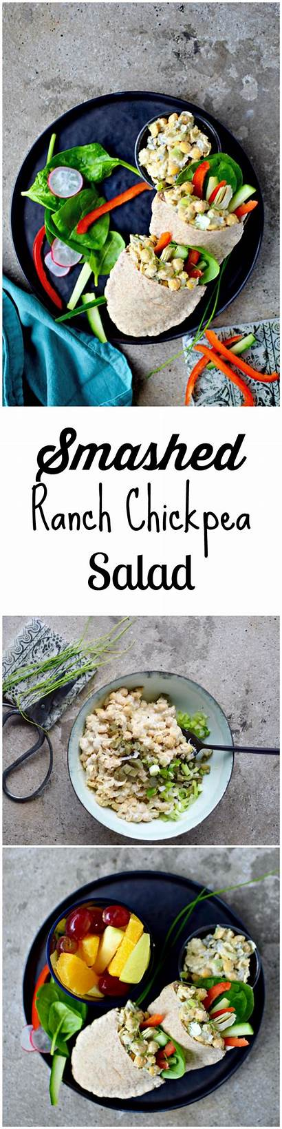 Salad Chickpea Ranch Recipes Lunch Creamy Dinner