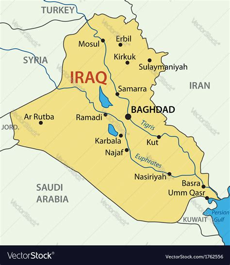 republic  iraq map royalty  vector image