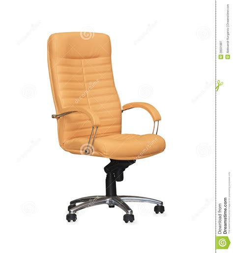 chair from beige leather royalty free stock photography