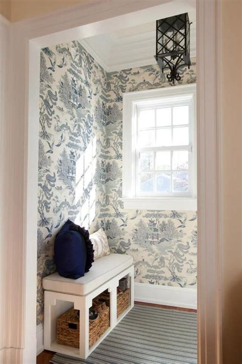 black  white toile wallpaper design ideas