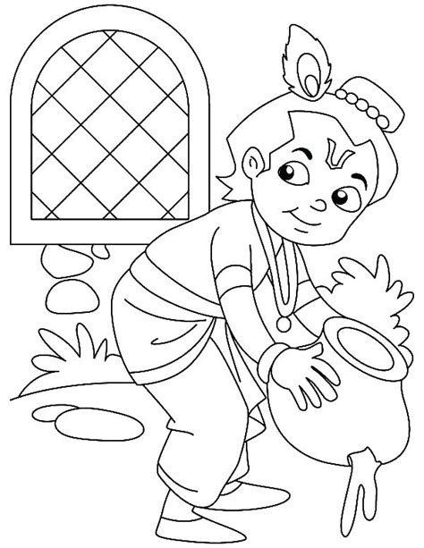baby krishna coloring pages  getcoloringscom