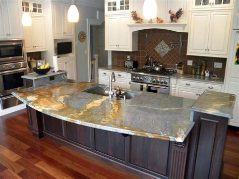 kitchen island with granite countertop blue louise granite installed design photos and reviews