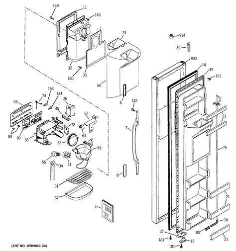 Water Heater Wire Diagram For Hotpoint by Hotpoint Refrigerator Parts Model Hss25ifmcww Sears