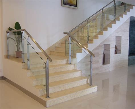 customized tempered glass interior stair railing stair railing in san diego for for both commercial and
