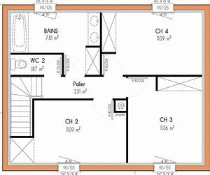 Plan Maison 4 Chambres 1 Etage