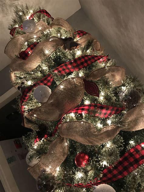 buffalo plaid burlap christmas tree christmas time