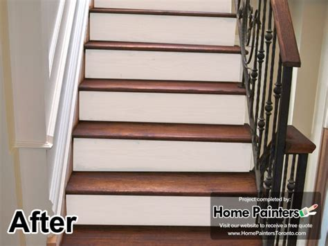 Restaining Hardwood Floors Toronto by Home Painters Toronto 187 Toronto Staircase Painting And