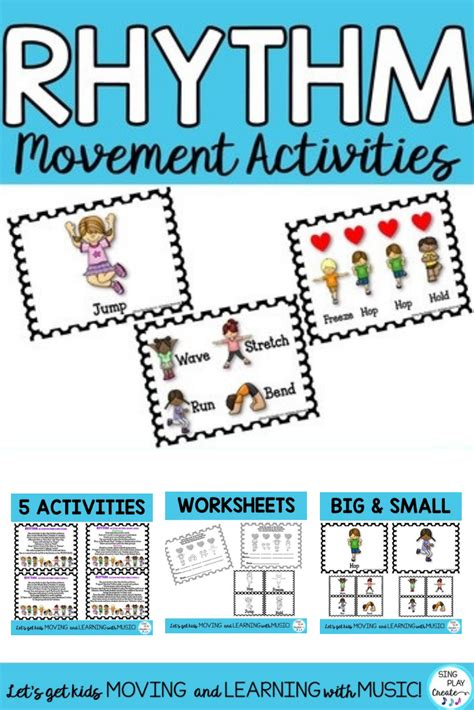 Songs for early childhood development. Movement Rhythm Activities: Posters, Flashcards, Power Point | Music education activities ...