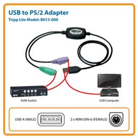 Illusion Bussiness Mouse B 120 neweggbusiness tripp lite usb to ps 2 adapter keyboard