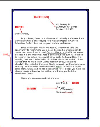 friendly letter format business proposal templated