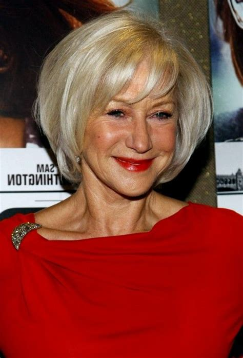 short hairstyle women   bob white hairs color