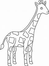 Giraffe Coloring Pages Animal Cartoon Cute Drawing Giraffes Simple Animals Sheets Clipart Getdrawings Easy Printable Getcolorings Coloringfolder sketch template