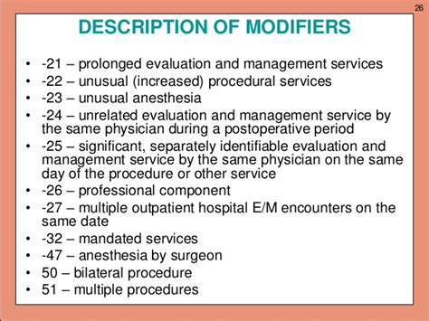 anesthesia modifiers list anesthesia billing