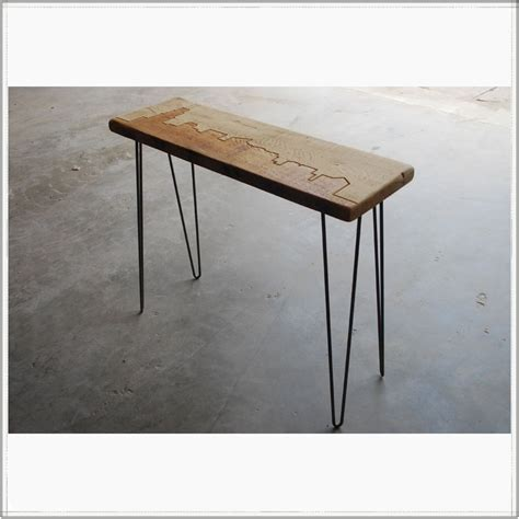 Reclaimed Wood And Iron Console Table  Beautiful And