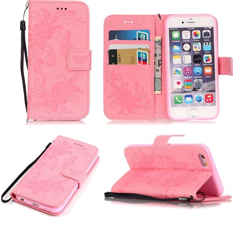 flip iphone 7 retro flower pattern flip leather wallet stand cover for iphone 7 7 plus 6 ebay