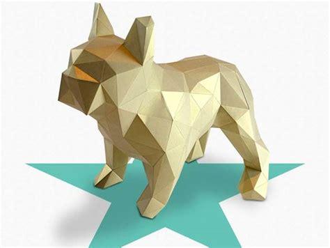 Dogo Diy Folding Kit For A Beautifull Geometric Low Poly Diamond Style French Bulldog By