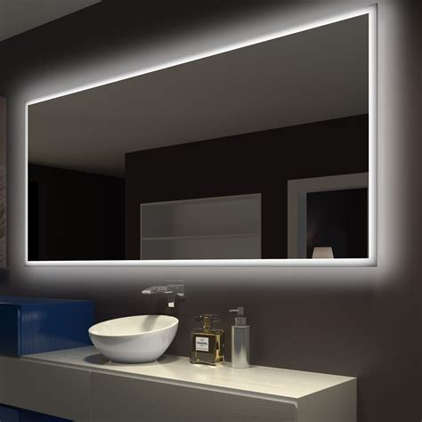 Back Lit Bathroom Mirrors by Rectangle Backlit Bathroom Vanity Wall Mirror Products