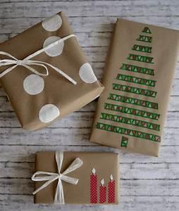 Geschenk Verpack Ideen : geschenke verpacken mit packpapier drei ratzfatz ideen mutti so yeah ~ Markanthonyermac.com Haus und Dekorationen