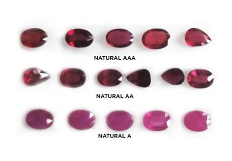 color of ruby a buyer s guide to ruby qualities aaa vs aa vs a