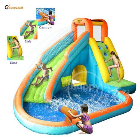 2014 nouveau design gonflable toboggan et piscine avec cannon 9117n toboggan parc troline id