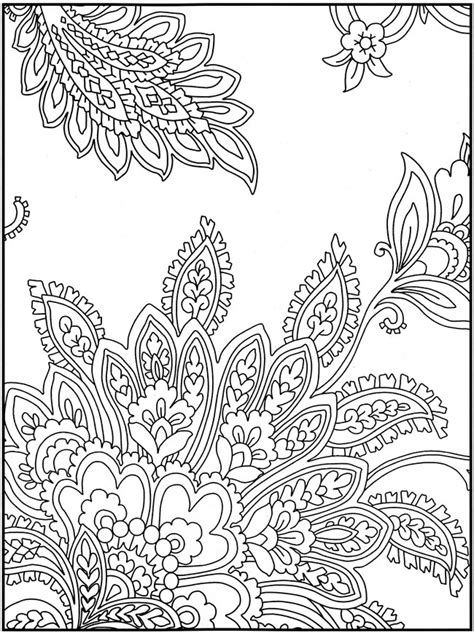 free crazy design coloring pages