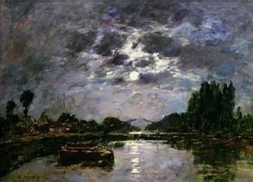 effect   moon eugene boudin oil painting