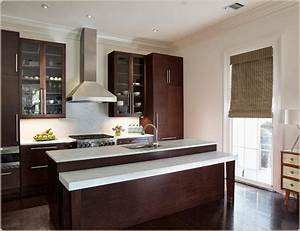 Dark cabinets light countertops house ideas