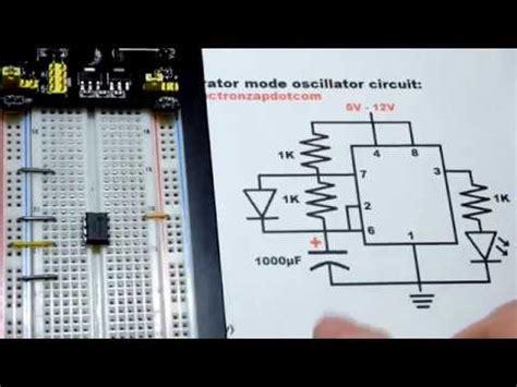 Timer Astable Multivibrator Circuit Step Build