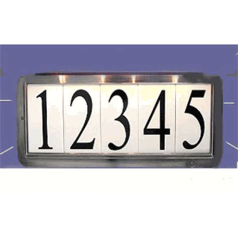 house number sign for l post solar illuminated house number sign with lawn post