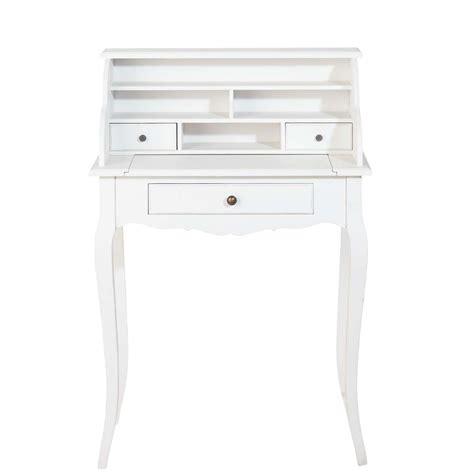 bureau secretaire blanc bureau secrétaire en bois blanc l 68 cm séraphine