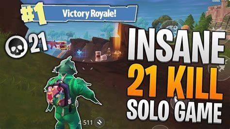 kill solo game fortnite mobile personal high kill