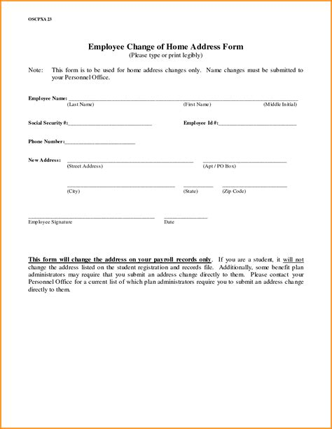 change of address template change of address printable form portablegasgrillweber